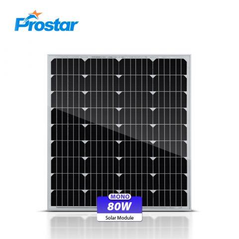 mono fotovoltaica paneles solares 80w 12v