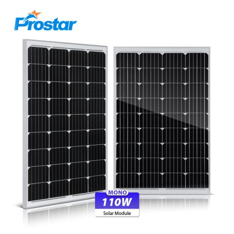 placas solares fotovoltaicas 110w 12v monocristalinas