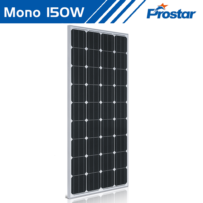 energia renovables panel solar 150w 12v monocristalino