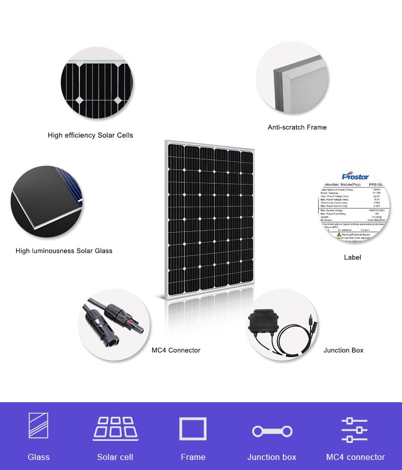 panel solar monocristalino 220w