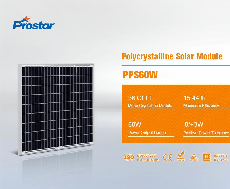 PPS60W 12v panel solar 60w policristalino fotovoltaicas