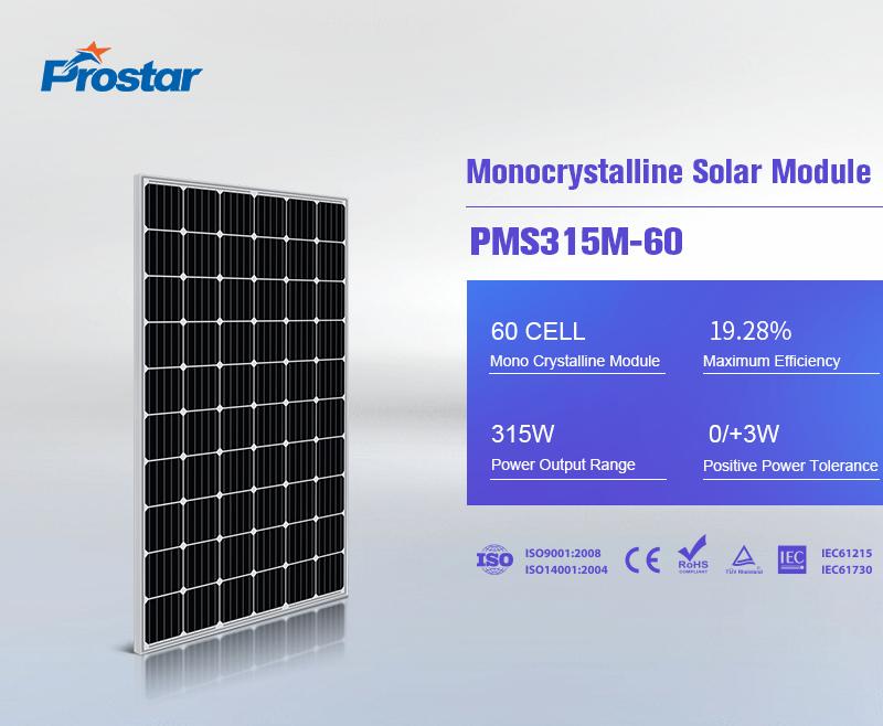 paneles solares 315w monocristalinas fotovoltaicas