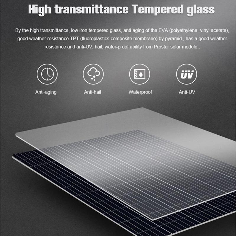 150 watt 12 volt polycrystalline solar panel Prostar PPS150W 150 watt 12 volt polycrystalline solar panel price Prostar Polycrystalline Solar Panels Glass