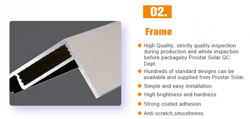 150 watt 12 volt polycrystalline solar panel Prostar PPS150W 150 watt 12 volt polycrystalline solar panel price solar panel frame