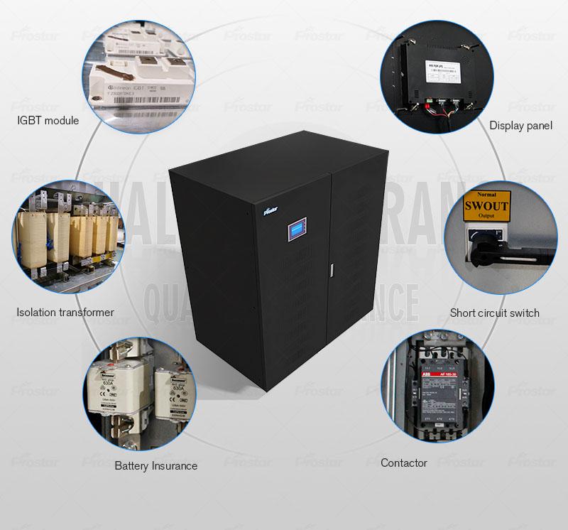 ups 500kva Prostar GT500K 3 phase uninterruptible power supply ups 500kva Prostar 3 Phase Online UPS 400KVA 500KVA Key Components