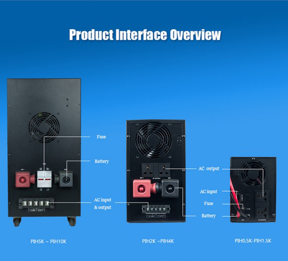 inverter 10kw Prostar PIH10K-96 single phase ac dc power supply inverter 10kW 96V Power Inverter Interface