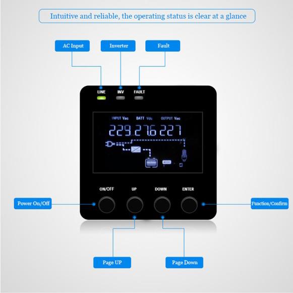 Power inverter LCD