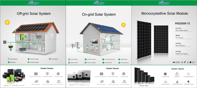 Prostar off-grid solar system on grid solar system monocrystalline solar module