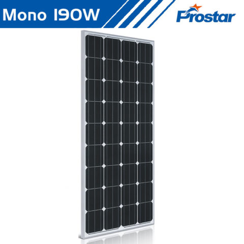 Prostar PMS190W best rv 12 volt solar panel 190 watt mono for camping