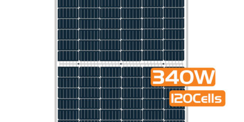 Half-cut Cell Mono PERC Solar Panel 340W 120Cells