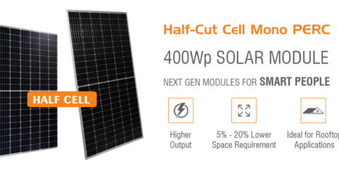Mono PERC Half Cut Cell Solar Module 144Cells