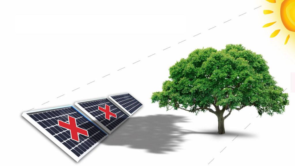 Shadows Reduce PV Module Power Output to Zero