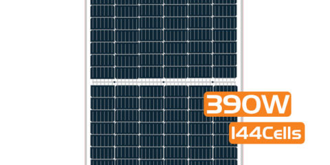 Half-cut Cell Mono PERC Solar Panel 390W 144Cells