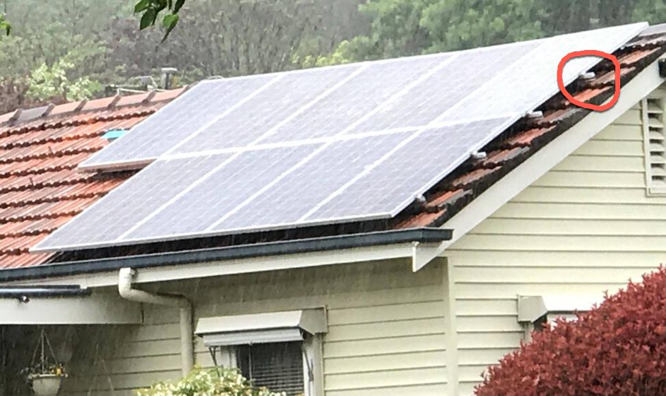 Installation problem of solar panels