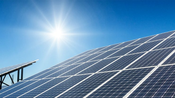 rooftop solar panels system