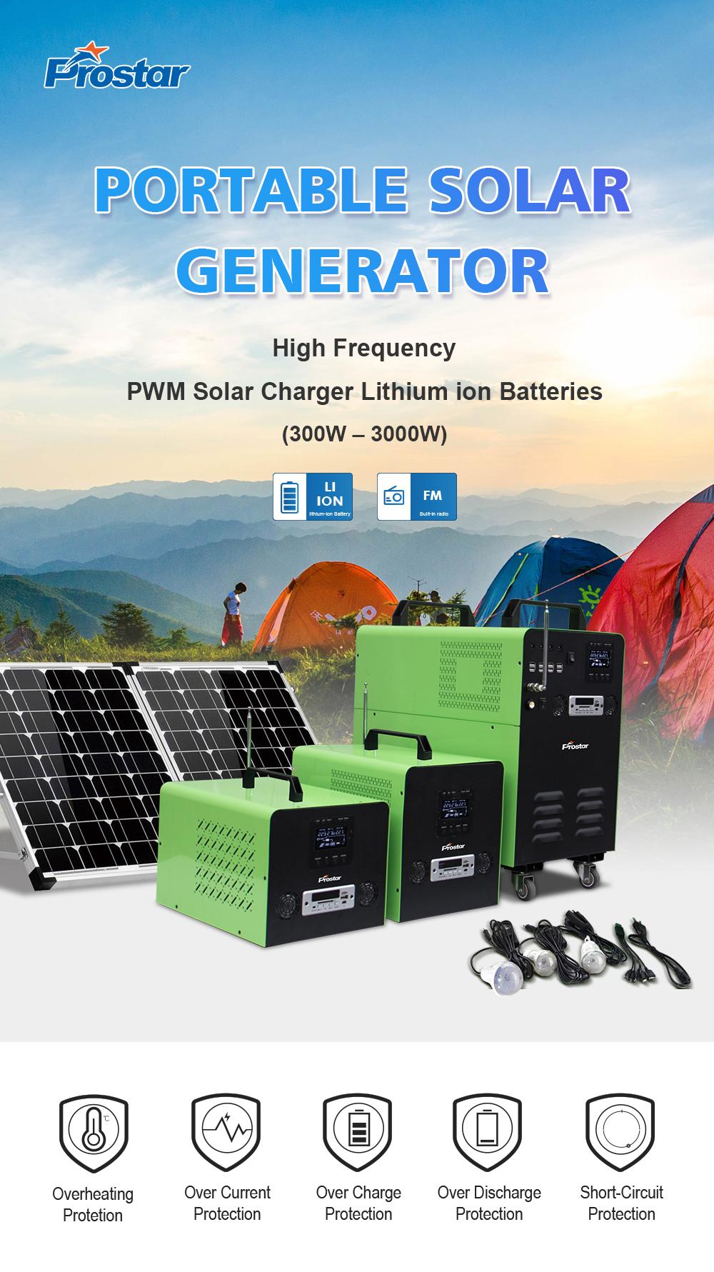 PWM Solar Charger Portable Solar Generator