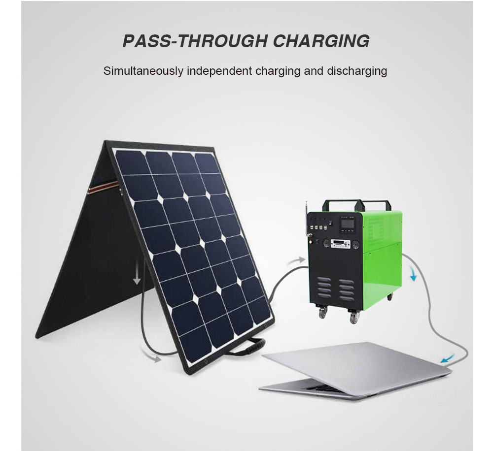 solar powered generator charging