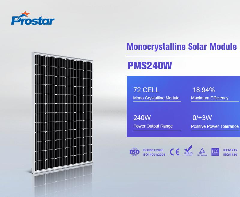 wholesale 24 volt 240 watt solar panel monocrystalline
