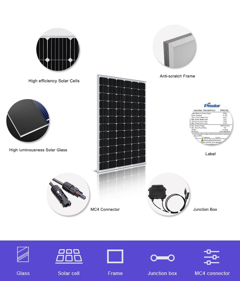 24 volt 240 watt solar panel monocrystalline