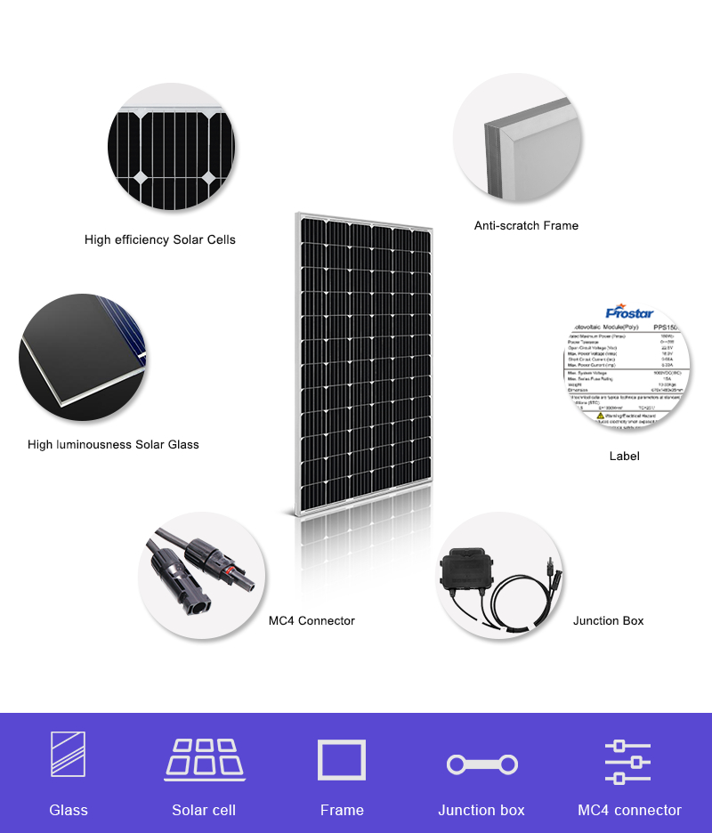 free electricity photovoltaic power 280w solar panel details