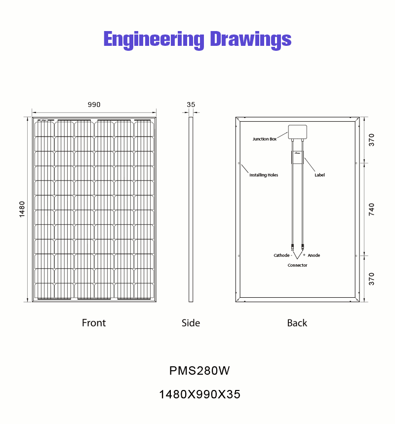 free electricity photovoltaic power 280w solar panel drawing