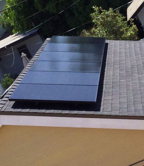 Black Solar Panels installed on rooftop