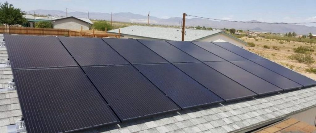 Black Solar Panels on Rooftop