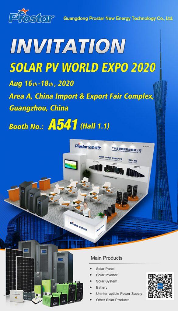 Prostar Solar at SOLAR PV WORLD EXPO 2020