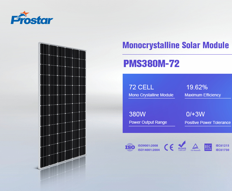 renewable monocrystalline silicon solar panel 380w