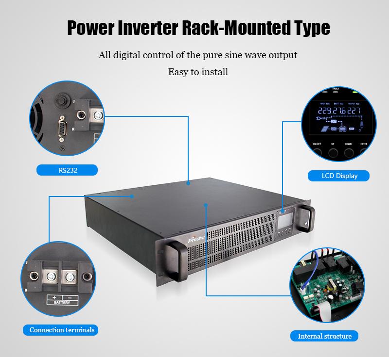 Rack-mount power inverter details