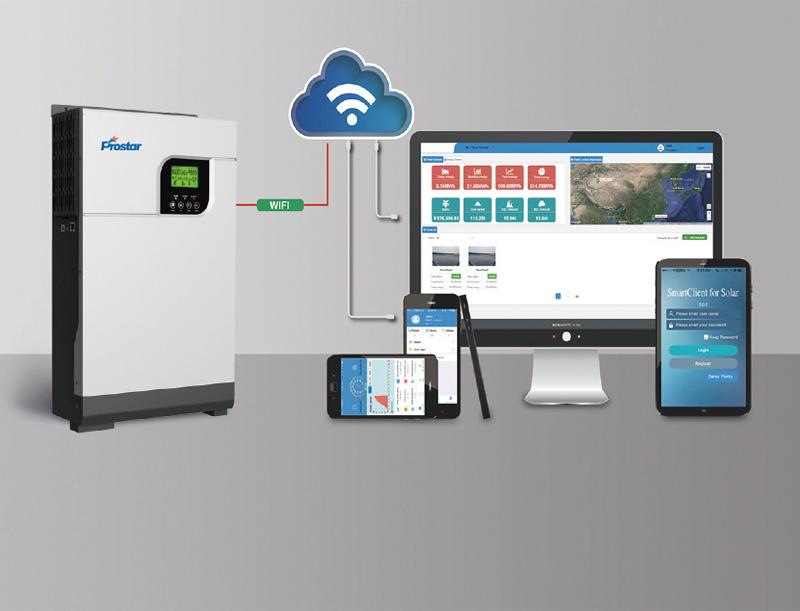 Hybrid Solar Inverter Mobile APP Cloud Monitoring